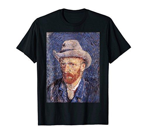 Vincent van Gogh's Self-Portrait with Felt Hat Retro T-Shirt (Vincent Van Gogh Self Portrait With Felt Hat)