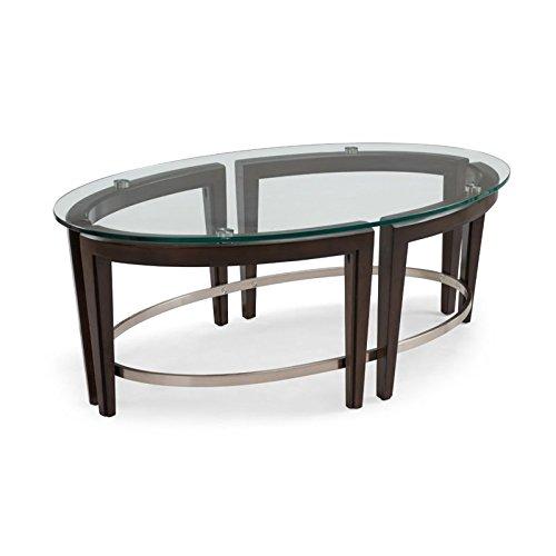 Magnussen Oval Table - Magnussen Carmen Oval Coffee Table in Hazelnut