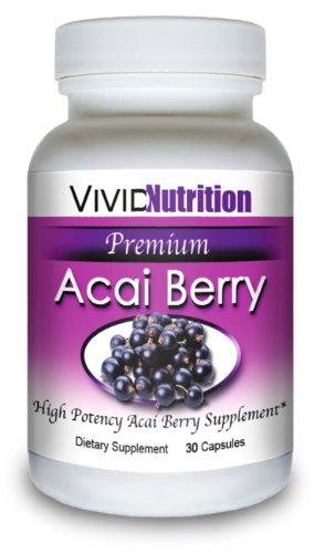ACAI PREMIUM - Haute Puissance, Pure Acai Berry supplément. Le régime entièrement naturel, perte de poids, Colon Cleanse, Detox, produit Superfood antioxydant.