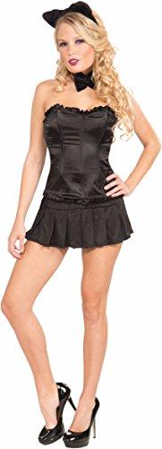 Devil Costume With Black Corset (Forum Novelties Women's Pleated Costume Mini Skirt, Black, One Size)