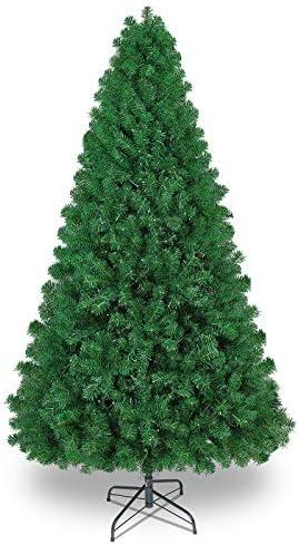 SHareconn Albero di Natale Artificiale, PVC Ago di Pino, Facile Montaggio, Supporto in Metallo, 1602 Rami, Verde Deco 7.5ft