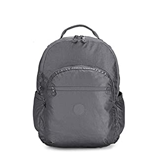 Kipling Women's Seoul XL Laptop Backpack, Steel Grey Metallic, One Size
