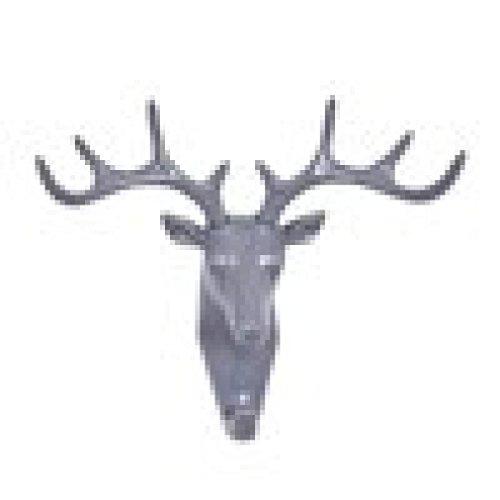 umfun-deer-head-self-adhesive-wall-door-hook-hanger-bag-keys-sticky-holder-gray