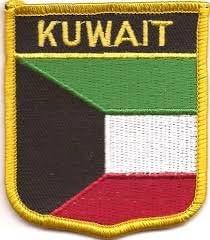 PATCH PATCHES EMBLEM IRON ON GLUE PRINT FLAG world crest kuwait