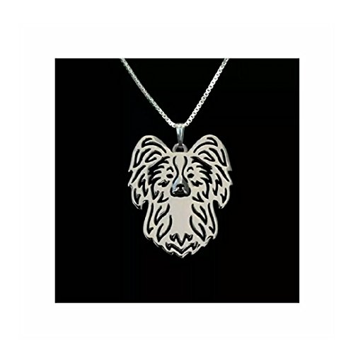 Papillon Dog Necklace - Necklace Papillon
