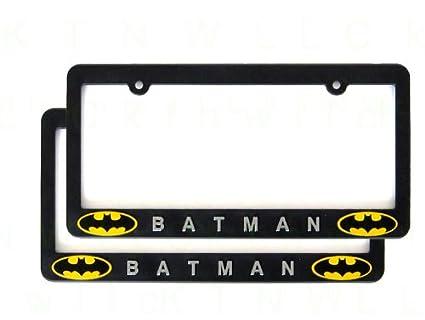 Amazon.com: A Set of Two Plastic 3D License Plate Frame - Batman ...