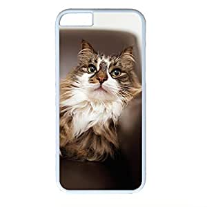 Hard Back Cover Case for iphone 6,Cool Fashion Art White PC Shell Skin for iphone 6 with Cute Cat