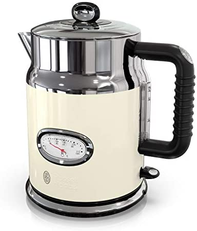 Russell Hobbs KE5550CRR Retro Style Electric Kettle, 1.7L, Cream
