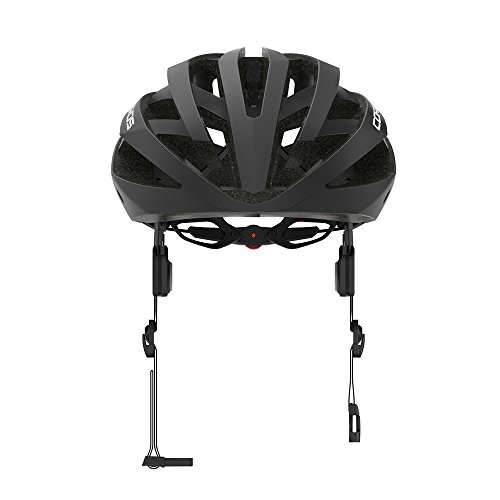 Coros Omni Smart Cycling Helmet w/Bone Conduction Audio, LED Tail Lights, SOS Alert Removable Visor   Adjustable Sizing   Connects via Bluetooth Music, Calls Navigation