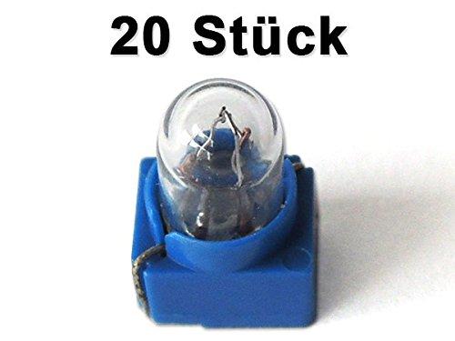 20 x Lampadina 5 mm Lampadina miniaturizzata 1, 5-14 Volt bianca Modello: LM2x20 DAD LM2-20