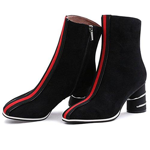 Martin Autunno Le stivali 34 Negli stivali Da Signorina con black donna Stivali BLACK 32 selvaggio Inverno E signore Ruvido tubo del rrw5qYp
