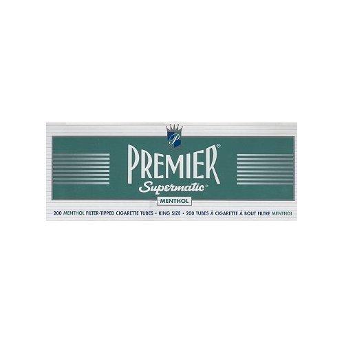 Premier Supermatic King Size Menthol Cigarette Tubes 5ct