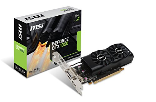 MSI-Video-Card-GTX-1050-2GT-LP-GeForce-GTX-1050-PCI-Express-2GB-GDDR5-DisplayPortHDMIDL-DVI-D-Retail