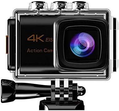 スポーツカメラ EIS三軸手ぶれスポーツカメラ4Kデュアルマイク 使用可能 多数バイクや自転車や車に取り付け可能 (Color : Black, Size : One size)