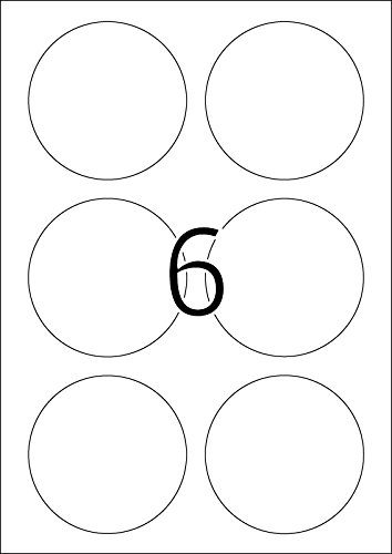 Herma Labels white /ø 85 SuperPrint 150 pcs.