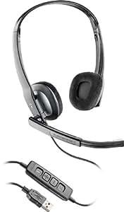 Plantronics Blackwire C220-M - Auriculares con micrófono (Negro, Microsoft Lync 2010 , USB, Alámbrico, Circumaural, 118 Db)