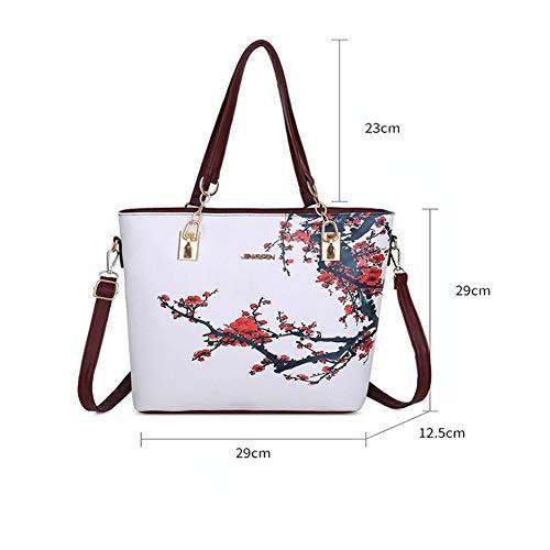 Mano Borsa Shopping Donna Tracolla A Bag Borse Spalla black Red Luckyccdd xYdRwqnFZR