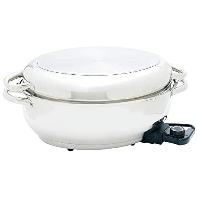 "Maxam® 15"" Electric Roaster with Dome Cover and Tube Handles"