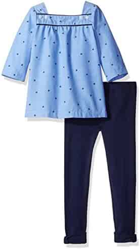 Nautica Girls' Chambray Tunic with Legging Set
