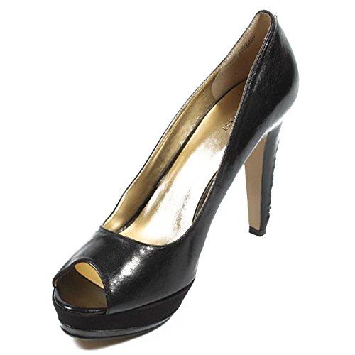 NINE WEST - Zapatos De Tacón Mujer - Pump Punta Abierta NWLILACIT BLACK Tacón: 10.5 cm