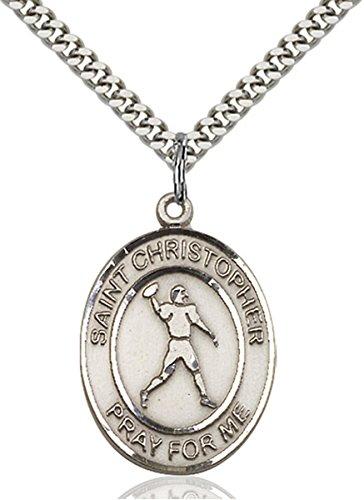bliss Sterling Silver Saint Christopher Football Medal Pendant, 1 ()