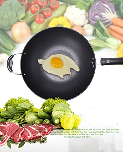 Hard-Anodized Aluminum Nonstick Cookware, Omelette Fry Pan, 13.5-inch Set, Black, New Version Cast Iron Dishwasher Safe Oven Cookware Set with Pre Seasoned Stir