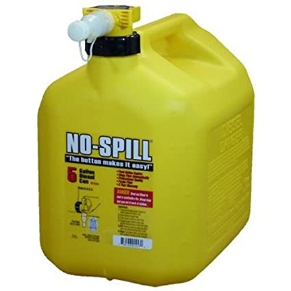 No-Spill 1457 Diesel Fuel Can, Yellow (5-(Pack))