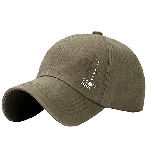 Men's Washed Baseball Cap  Vintage Cotton Casual Sport Adjustable Baseball Cap Hip-hop Hat