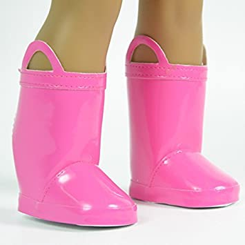 Amazon.com: Pink Rain Boots for 18 Inch Dolls - Shoes for American ...
