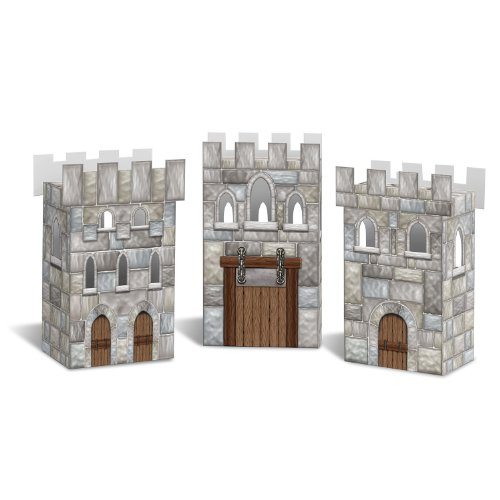Beistle Castle Favor Boxes (Medieval Party Decorations)