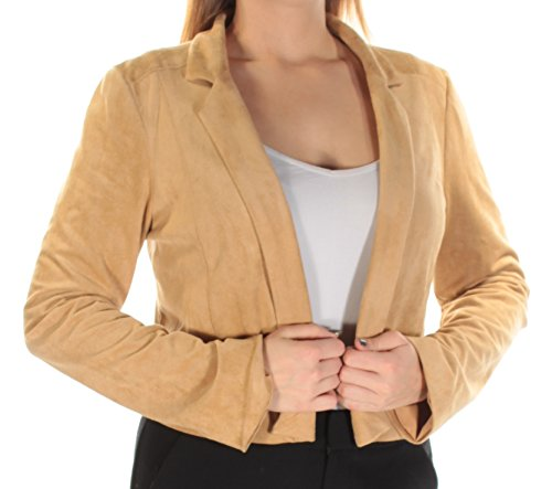 GUESS $108 Womens New 1240 Brown Faux Suede Blazer Casual L Regular B+B