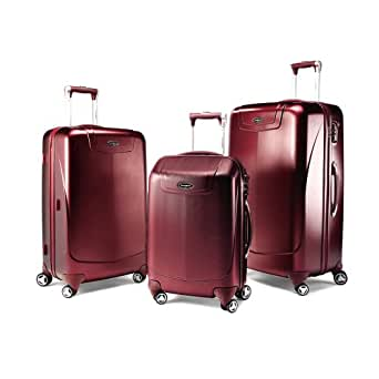 Samsonite Luggage Silhouette 12 Hs 3 Pc Nest (Sp22/26/30) Wheeled Luggage,Dark Red,One Size