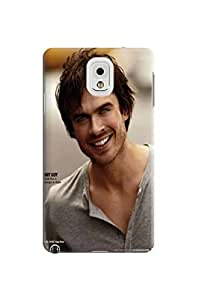 Custom Lightweight Waterproof Cool Ian Somerhalder fashionable TPU Phone Protector Cover for Samsung Galaxy Note 3