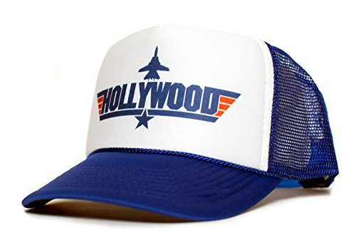HOLLYWOOD Top Gun Unisex-Adult Trucker Cap Hat -One-Size Multi (Royal/White)