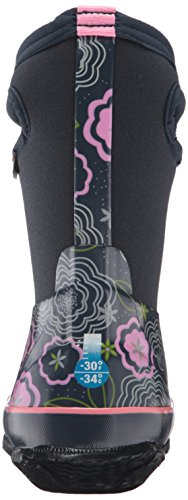 Bogs Classic High Waterproof Insulated Rubber Neoprene Rain Boot Snow, Posey Print/Dark Blue/Multi, 3 M US Little Kid by Bogs (Image #2)