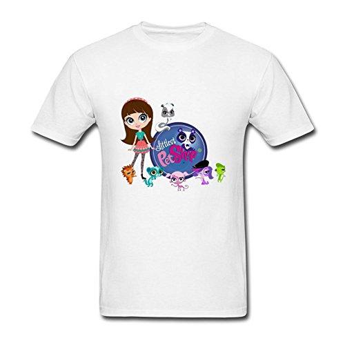 Ymrcosdo Men's Littlest Pet Shop T Shirt White S (Marshawn Lynch Standup)