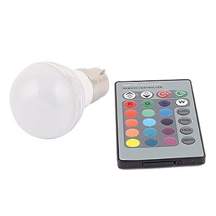 Bombilla Adaptador B22 eDealMax decoración bola de luz de la lámpara LED RGB 3W AC 85