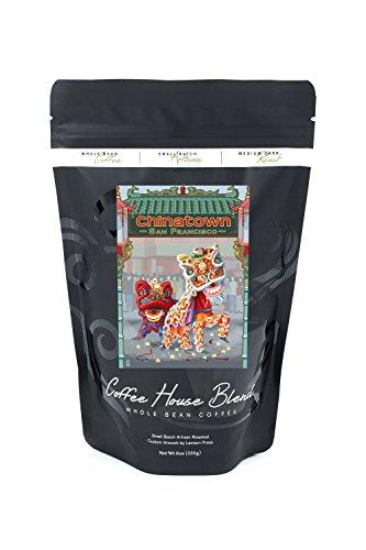 San Francisco, California - Chinatown (8oz Whole Bean Small Batch Artisan Coffee - Bold & Strong Medium Dark Roast w/ - Stockton Francisco San
