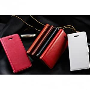 Folio PU Leather Wallet Design Folding Stand Case Cover For iPhone 5C --- Color:Coffee