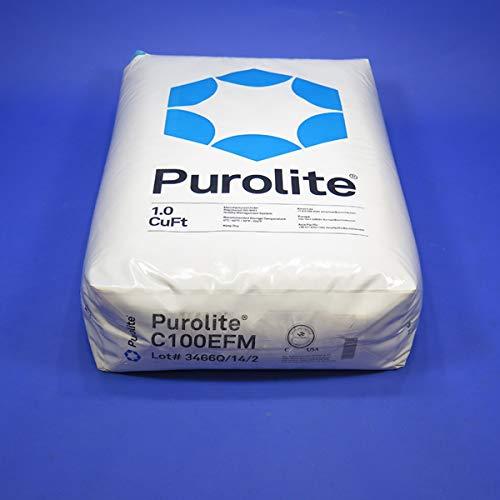 Purolite C100EFM Fine Mesh Water Softener Resin (50 lbs, 1 cu. ft.), Single Unit, ()