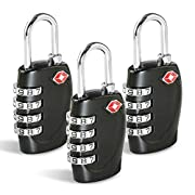 CFMOUR TSA Suitcase Locks – 1, 2, 3, 4, 5, 6 Pack 4-Dial Travel Combination Security Padlock for Suitcases Luggage Case…