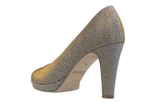 Gabor 41.27, Zapatos de Tacón Mujer Platino Metallic
