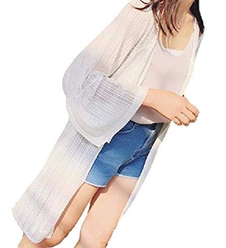 [アルジェント アパ] ロング カーディガン 7部袖 リゾート 夏 秋 紫外線対策 羽織り カジュアル 涼しい 薄手 Aライン