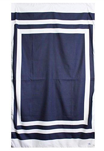 The Royal Standard Micro Fiber Beach Towel - Navy/White