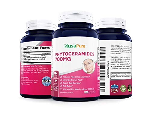 41FB0Gn3xXL - Phytoceramides 700mg 200 Capsules (Non-GMO & Gluten Free) Powerful Skin Repair & Rejuvenation ✮ All Natural Plant Derived Anti-Aging Powerhouse for Reduced Fine Lines & Wrinkles