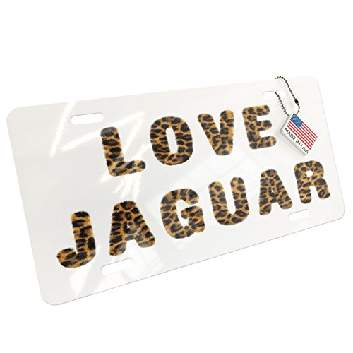 Metal License Plate Love Jaguar Cheetah Cat Animal Print - Neonblond by NEONBLOND