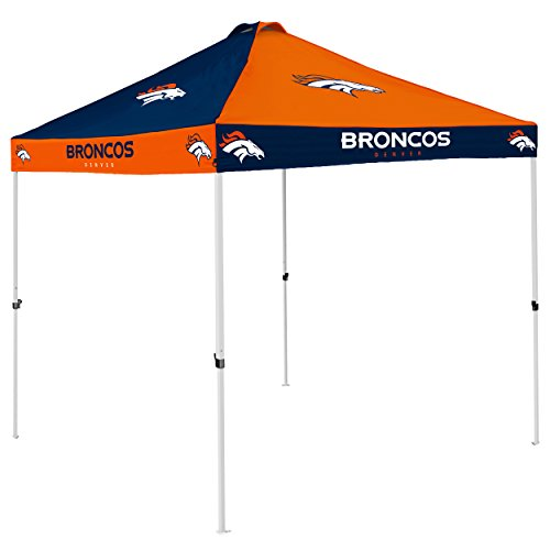 Logo Brands NFL Denver Broncos Checkerboard Tent Checkerboard Tent, Carrot, One Size