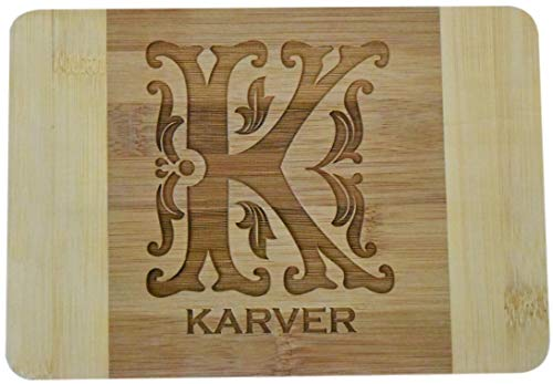 Personalized Custom Engraved Bamboo Wood Cutting Cheese/Bar Board - 9