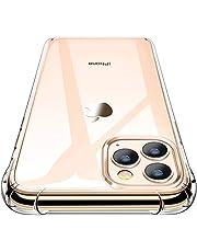 CANSHN iPhone 11 Pro Max hoesje, hoogwaardig transparant, zacht, doorzichtig, dunne telefoonhoes met TPU stootvast valbescherming bumper case cover voor Apple iPhone 11 Pro Max 6.5'' - Clear