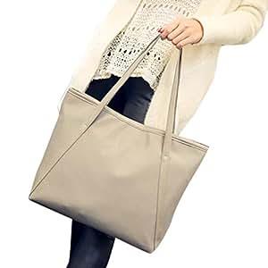 Mosunx (TM) mujeres piel bolsa de compras bolso bolsa de hombro bolso